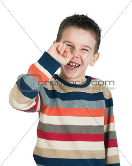 Child pick his nose