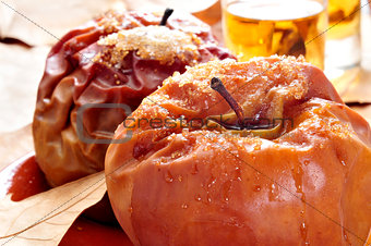 baked apples and dessert wine