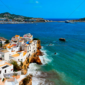 Sa Penya District in Ibiza Town, Balearic Islands, Spain