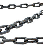 steel chain on a white background