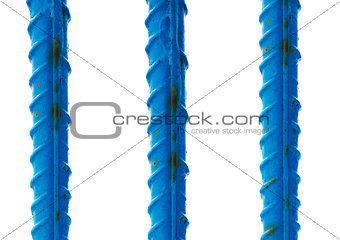 blue reinforcement bars