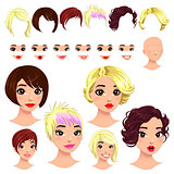 Fashion female avatars.