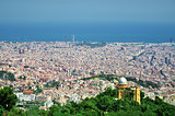 Barcelona City Panoramic view