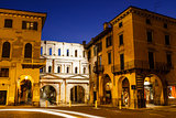 Ancient Roman Porta Borsari Gate in Verona at Night, Veneto, Ita