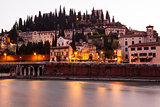 Adige River Embankment at Morning in Verona, Veneto, Italy