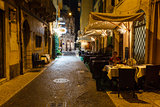 Outdoor Restaurant in the Sidewalk of Piazza Bra in Verona, Vene