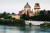 Saint George&#39;s Church on Adige River Bank in Verona, Veneto, Ita