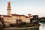 Santa Maria Matricolare Cathedral in Verona at Morning, Veneto,