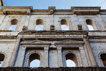Ancient Roman Gate Porta Borsari in Verona, Veneto, Italy