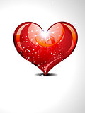 abstract glossy heart with sparkle