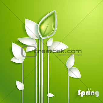 Abstract paper plants