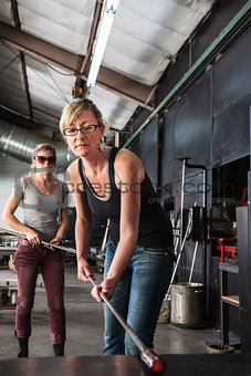 Lady Working with Molten Glass