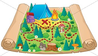 Camping theme map image 2
