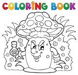Coloring book mushroom theme 3