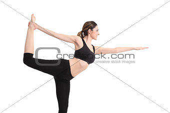 Beautiful woman doing a yoga pose
