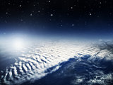 Stratosphere view of earth