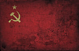 grunge USSR flag