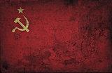 grunge USSR flag