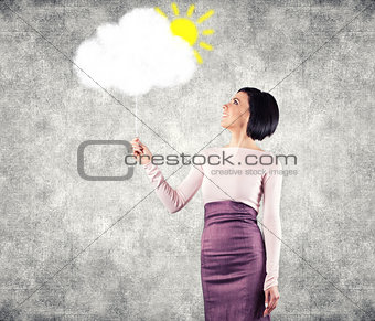 Girl with cloud