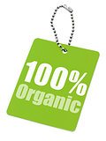 100% organic label