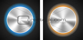 Abstract backgrounds with circle metallic inset