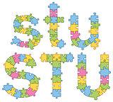 Puzzle Jigsaw Alphabet Letters