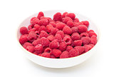 Ripe Berry Red Raspberry in Bowl