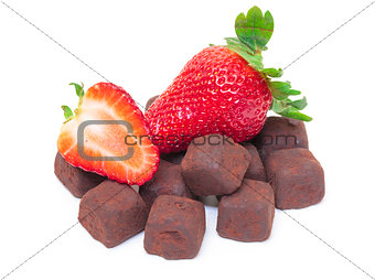 Ripe Berry Red Strawberry with Chocolates