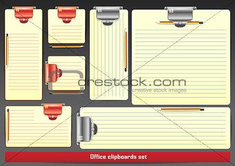 Blank clipboards