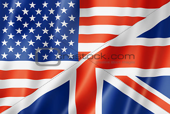 United States and British flag