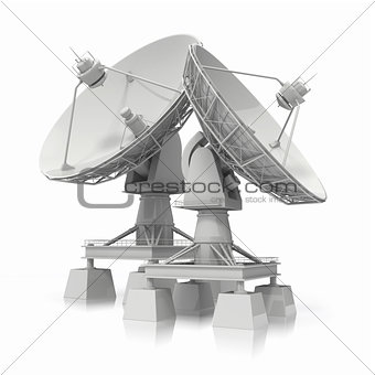 Satellite dish.  Communication.