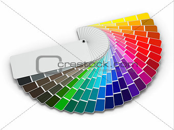 Color palette guide on white background