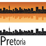 Pretoria skyline in orange background