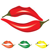 Woman lips as pepper
