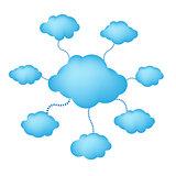 Blue Web Clouds
