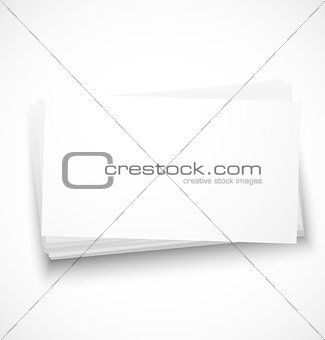Business cards with shadow template