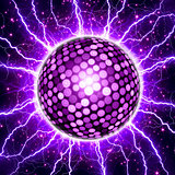 Party background, disco ball