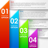 Paper infographics options banner