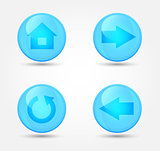 Set of glossy browser icons. Vector icons
