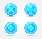 Set of glossy prohibitory icons. Vector icons