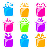Collection of gift boxes
