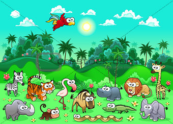 Jungle Animals.