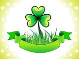 abstract st patrick clover with grass