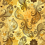 Repeating golden pattern