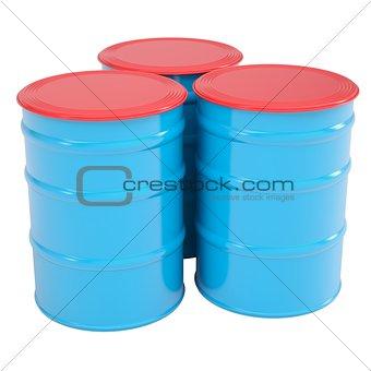 Blue barrel