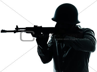 army soldier man shooting