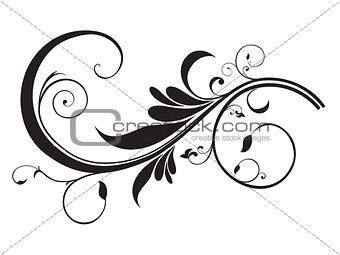 abstract artistic floral template