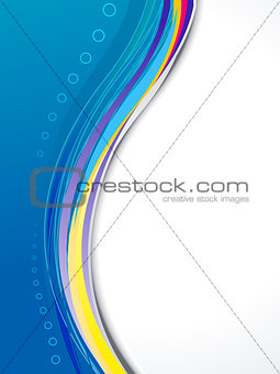 abstract blue based brochure template