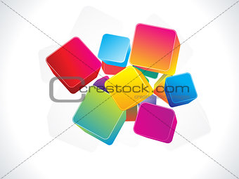 abstract colorful 3d box background