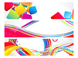 abstract multiple web banners background